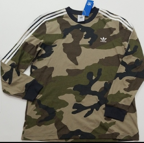 4aa10ec0 Adidas Originals Camo Long Sleeve Tee NWT